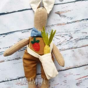 mały królik z warzywami zestaw do zabawy, mała, motoryka eko, naturalna