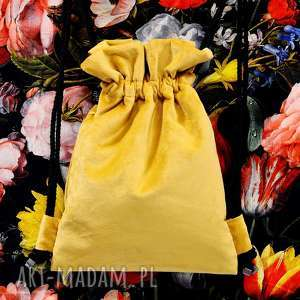 Prezent BBAG Mellow 2, aksamitny, prezent, urodziny, plecak, worek, welurowy