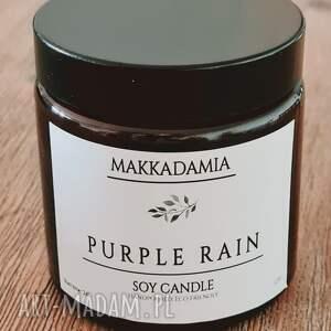 świeca sojowa purple rain, sojowa, zapachy, dekoracja, soy candle