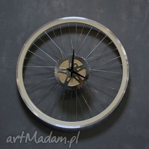 święta prezent, zegary zegar ścienny creme, zegar, ścienny, industrialny, rowerowy
