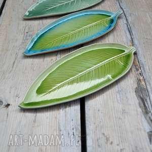 Zestaw talerzy liści - 3 szt ceramika tyka ceramika, talerz