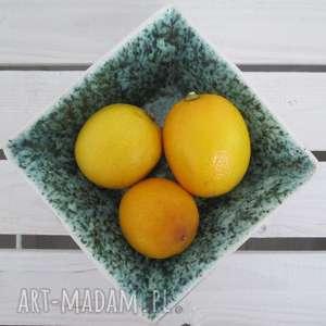 ceramika ana kwadratowa miseczka ceramiczna, modernistyczna, nowoczesna, na-owoce