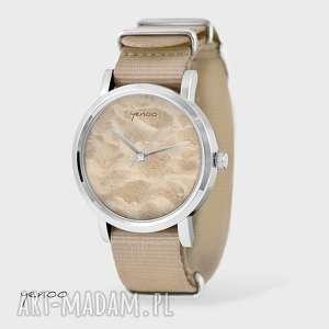 yenoo zegarek, bransoletka - sand beach beżowy, nato, bransoletka, nato