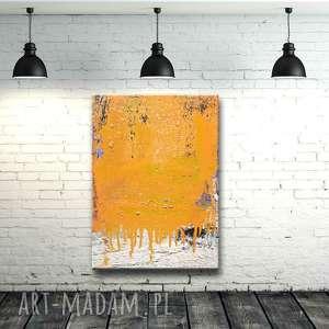 Duży obraz nowoczesny do salonu, obrazy-nowoczesne, obrazy-do-salonu, żółty