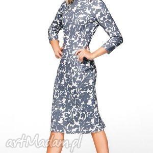 sukienka greta midi klaudia, sukienka, ołówkowa, dopasowana, midi, biurowa