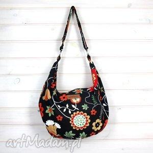 torba hobo w kwiatki pasek regulowany kolorowa, hobo, kwiaty, wiosenna