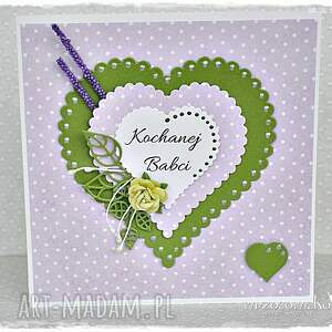 Prezent Kartka dla Babci, kartka, dzień, babci, serce, prezent