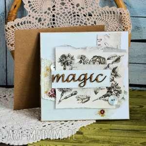 Kartka uniwersalna - magic scrapbooking kartki maly koziolek