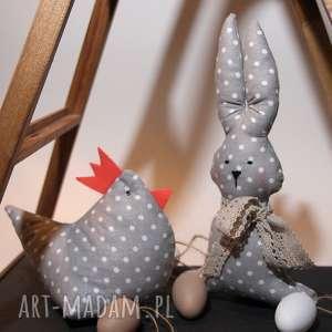 ozdoby świąteczne zestaw wielkanocny - kura i zając, wielkanoc, dekoracja