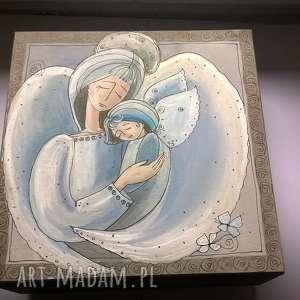 szkatułka zamówienie pani anety, anioł, dziecko, anioły