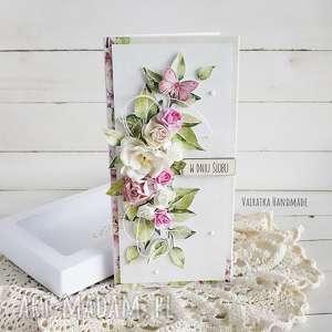 kartka ślubna w pudełku, 503, kartka, ślub, wesele, prezent, ślubny