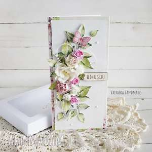 kartka ślubna w pudełku 503 vairatka handmade prezent, wesele