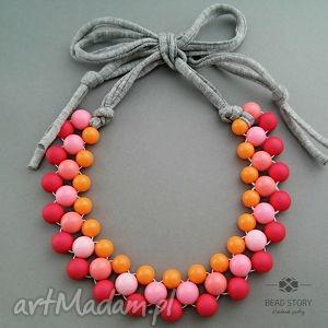 candy - naszyjnik wiosenny, kolorowy, pastelowy street