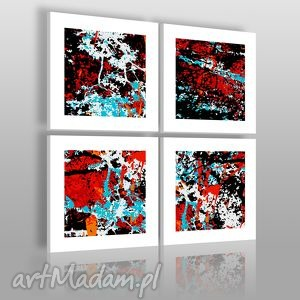 obrazy obraz na płótnie - abstrakcja 4cz 4x40x40 cm 00101, abstrakcja, wzór