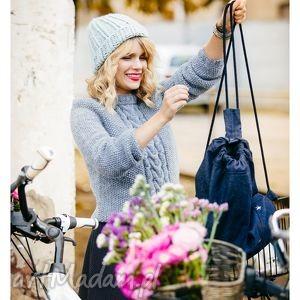 miętowa czapka ręcznie robiona - zima, narty, snowboard, handmade, streetwear