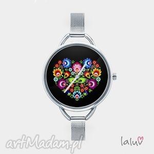zegarek z grafiką slavic love, bransoleta, ludowy, folk, miłość, etniczny, prezent