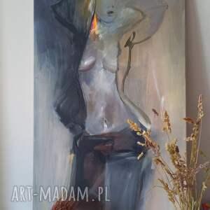 woman 120x60, obraz do salonu, zmysłowy obraz, kobieta w sztuce