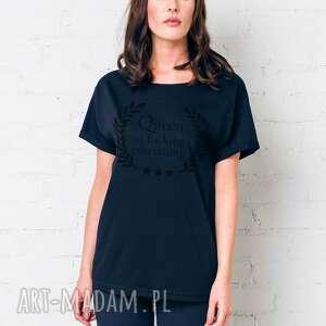 queen oversize t-shirt, oversize, tshirt, czarny, casual, bawełna, moda