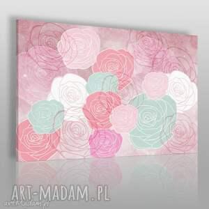 obrazy obraz na płótnie - abstrakcja geometria 120x80 cm 49701, róże, kwiaty
