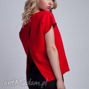 ręcznie wykonane bluzki top, blu123 czerwony