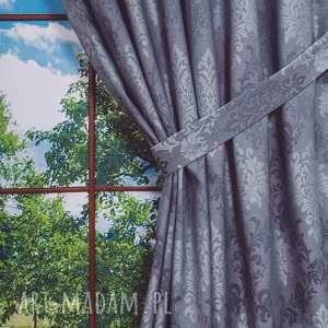zasłona palacio szara, zasłona, zasłonka, poliester, okno, wzór