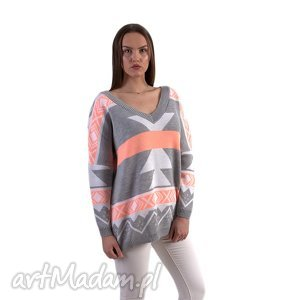 sweter aztec, motyw, serek, bluzka, pod choinkę prezent