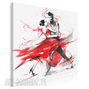 obraz na płótnie - abstrakcja tango w kwadracie 80x80 cm 14703