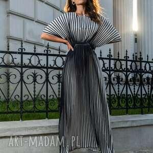 Fulki - plisowana sukienka w pasy sukienki my image art sukienka