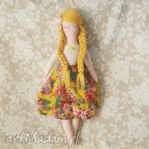 słoneczna bajka - lalka ochra, lalka, wróżka, wianek, kwiaty, floral lalki dla