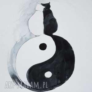 kocie ogony - miłość w równowadze akwarela artystki adriany laube symbol