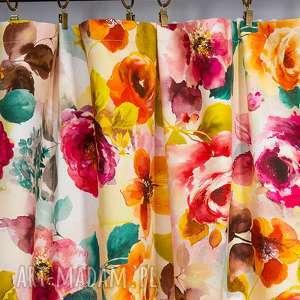 dekoracje zasłona elena, zasłona, zasłonka, kwiaty, wiązanie, do pokoju