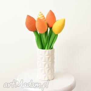 tulipany, bukiet, bukiecik, prezent, kwiatki, kwiaty, świąteczny