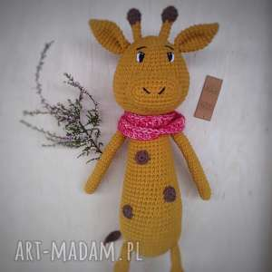 Szydełkowa żyrafa zabawki minimis rękodzieło, żyrafa, szydełko,