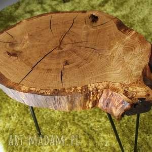 hand-made stoły stolik kawowy, plaster drewna dąb