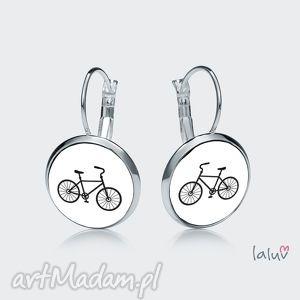 kolczyki wiszące rower, jazda, hobby, sport, prezent, wycieczki, śmieszne