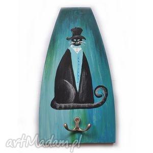aleksandrab kot lewitujący, wieszak ręcznie wykonany, wieszak, kot, koty