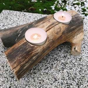 świecznik - ,świecznik,las,leśne,drewno,drzewo,skandynawski,