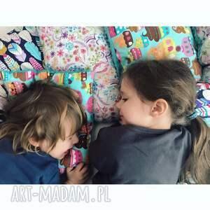 pokoik dziecka poduszka bawełna z minky, wzór piórka, poduszka, piórko, minky