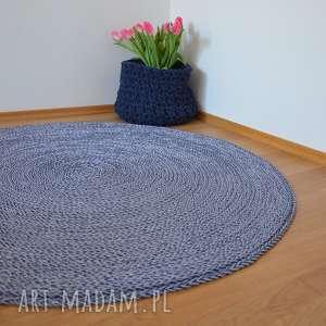 dywany dywan okrągły ze sznurka - melanż 120 cm, dywan, dywanzesznurka, naszydełku