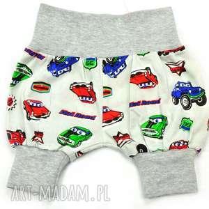 hand-made auta krótkie spodenki pumpy polska bawłna, szorty, spodenki dla chłopca