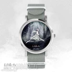 zegarek, bransoletka - magiczny las szary, nato, bransoletka