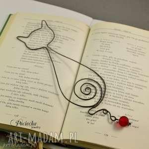 zakładki kot marek - zakładka do książki, zakładka, metalowa, na prezent
