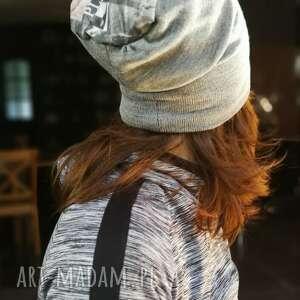 Czapka szara damska wiosenna na podszewce typ sportowy czapki