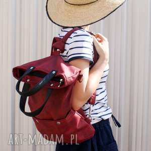3w1 vegan plecak bordo, plecak, torba, 3w1, vegan, minimal, simple, wyjątkowe