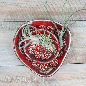 ceramika komplet czerwonych miseczek ceramika, miseczki, ceramiczne miseczki