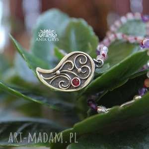 Romantyczny w różu, rozeta, naszyjnik, supełkowany, agat, różowy, aniagrys