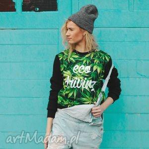 uniwersalna bluza z aplikacją marihuana trawka ziolo, bluza, sportowa, dresowa