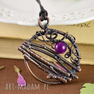 witchcraft - naszyjnik z prawdziwymi gałązkami - naszyjnik amulet, wisior koło