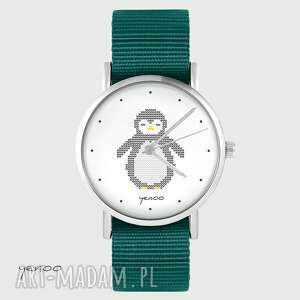 zegarki zegarek yenoo - pingwin morski, nato, zegarek, pingwin, pasek, typu