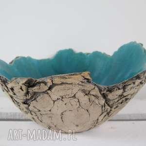 ręcznie wykonane ceramika artystyczna miska sardynia rozmiar m